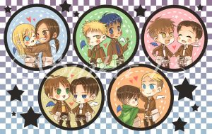 SnK: Buttons of Ships by YummySuika