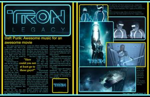 Tron Legacy Magazine Spread by eanimusic