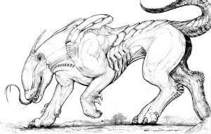 Splicers Gorehound new Xeno breed by ChuckWalton