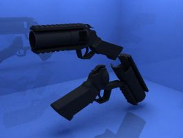 Grenade Pistol (3Ds Max) by jeoong94