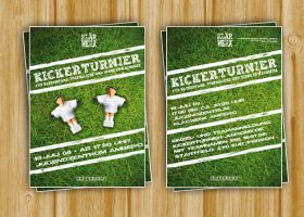 Flyer Table Soccer Tournament by DOMDESIGN