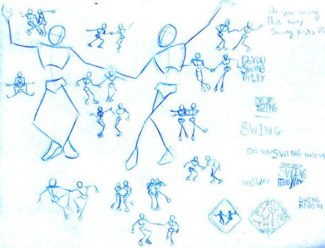 Swing This Way Sketches by BlazeRocket