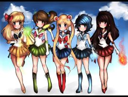 Inner Sailor Senshi by Geegeet