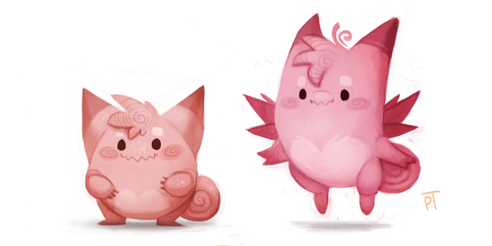 Kanto 035 - 036 by Cryptid-Creations