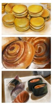 Food Paintings #1 by marquerbun