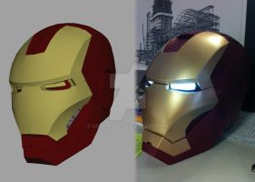 3D Printed Iron Man helmet by samohtep