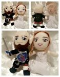 Wedding Plushie Etsy Commission for Kansaiflame by MicheruShinearo