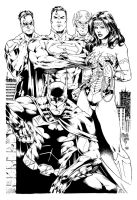 Justice League inks by shoveke
