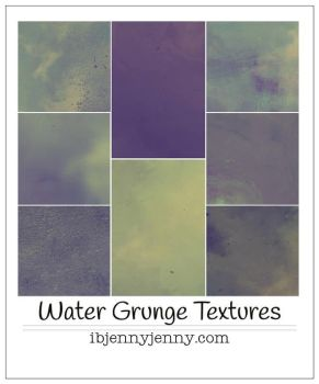 Water Grunge Textures by ibjennyjenny