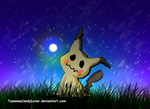 Mimikyu and the firefly by TamamaCandyLover