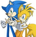 Sonic And Tails by Rosurin