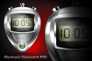 Electronic Stopwatch Icon (PSD) by softarea