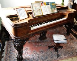 STOCK - Antique Grand Piano 2 by jocarra