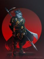 Anzel the wolf knight -[ Commission ]- by Dragibuz