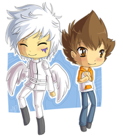 RQ - Byakuran and Tsuna Chibis by Deski