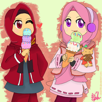 Commishes : Amirah and Mutiara by Fia-V98