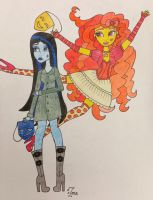 Monster High OCs: Comedy and Tragedy by Oceanblue-Art