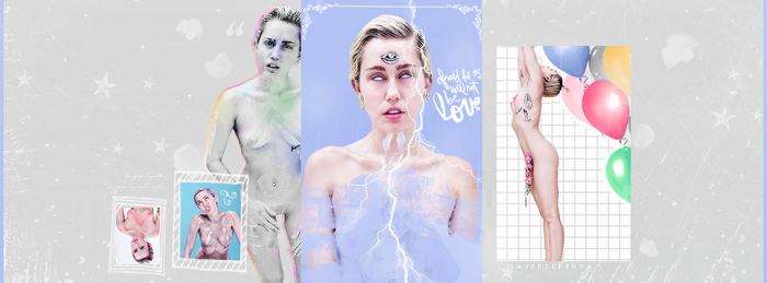 Miley Cyrus Facebook Cover by GayeBieber94