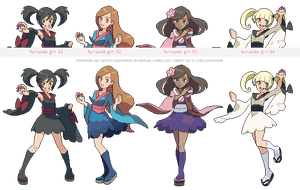 Pokemon XY trainer sprites ( VII ) by Nephae