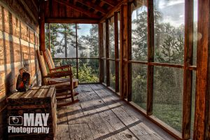 Back Porch of Heart Pine by Askingtoattackmeghan