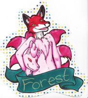 Forest Badge (Commission) by dragonmelde