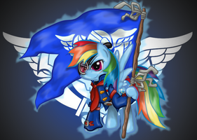Rainbow Dash as Vyse [Coloured] by GamefreakDX