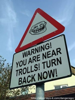 Troll Danger Sign by therealtailsdoll