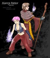 Remus and Tonks - RPG Style by Laverinth