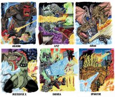 Colossal Kaiju Combat Trading Card Sample 4 by fbwash