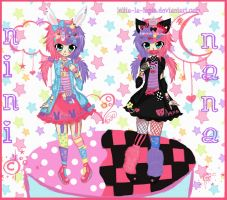 +Nini and Nana.:.Decora Twins+ by Lolita-La-Lapin