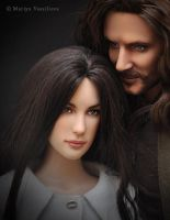Aragorn and Arwen doll repaints by mary-vassilieva