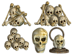Spooky Skulls PNG Stock 03 by Roys-Art