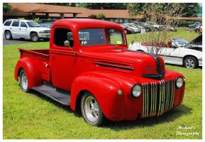 Hot Red Ford Truck by TheMan268