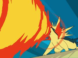 Typhlosion, Flame Thrower by Sajirou