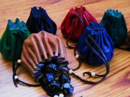 More dice bags II by RuehlLeatherWorks