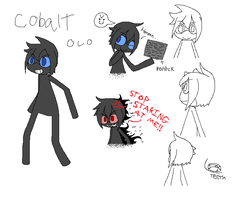 Enderman OC: Cobalt by xAshennightx