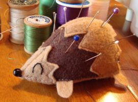 Hedgehog Pincushion by KatlynMG