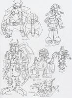 TF: Character Studies by BlueIke