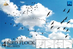 4 Bird Flock Brushes by HJR-Designs
