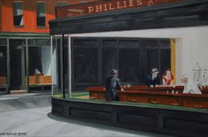 Hopper's Nighthawks by shaman-art