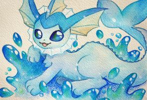 Vaporeon by scilk