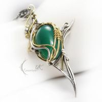 XARTIEEL - Yellow gold ,silver , chalcedony ,onyx by LUNARIEEN