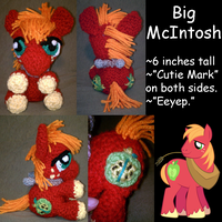 Big McIntosh Amigurumi Plush by JwalsShop