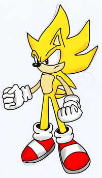 Super Sonic Drawing by BlueScore
