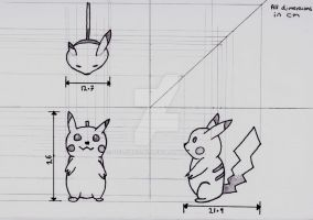 Pikachu Orthographic by Deluxe0111