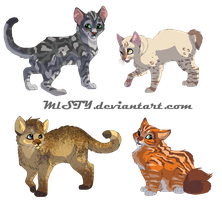 Misty Kits- 4 Batch by DancingfoxesLF