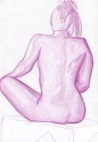 Woman's back in pink by BoomersRoundTheBend
