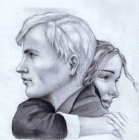 Draco and Hermione by Leona-Norten