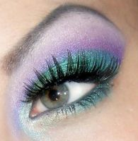 peacock inspired by munstermakeup