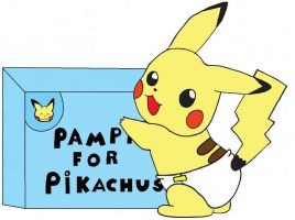 pampers for pikachu's by plushielover
